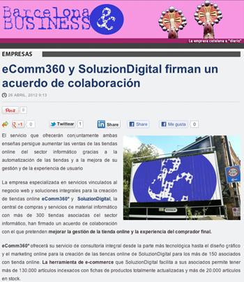eComm360 y SoluzionDigital firman un acuerdo de colaboración